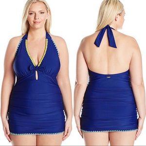 Jessica Simpson Plus Size NWT Swim Dress One Piece